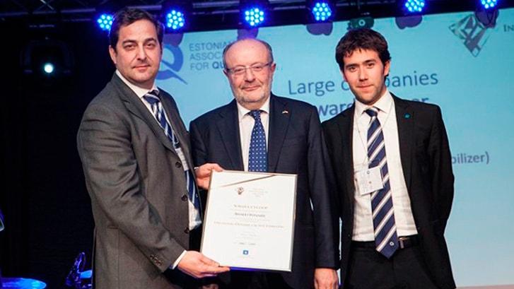 Système DAS de SORALUCE lauréat du prix «Quality innovation of the year»