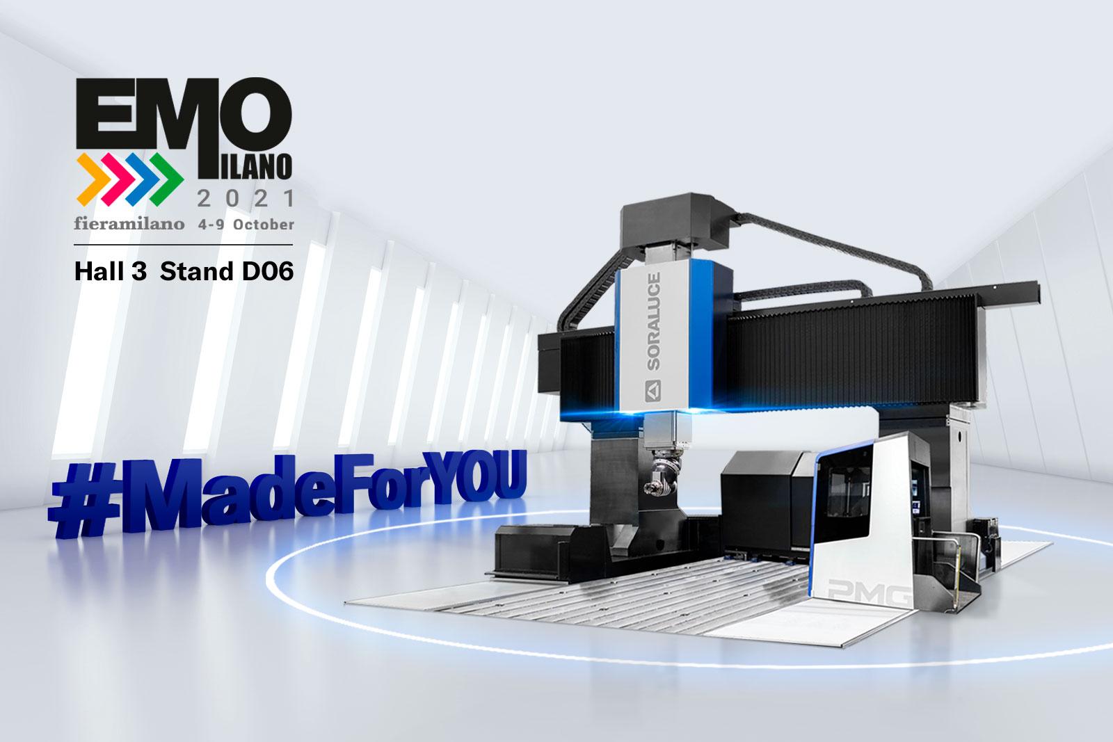 Soraluce presenta el futuro de las soluciones de mecanizado #MadeForYOU en vivo en la EMO.