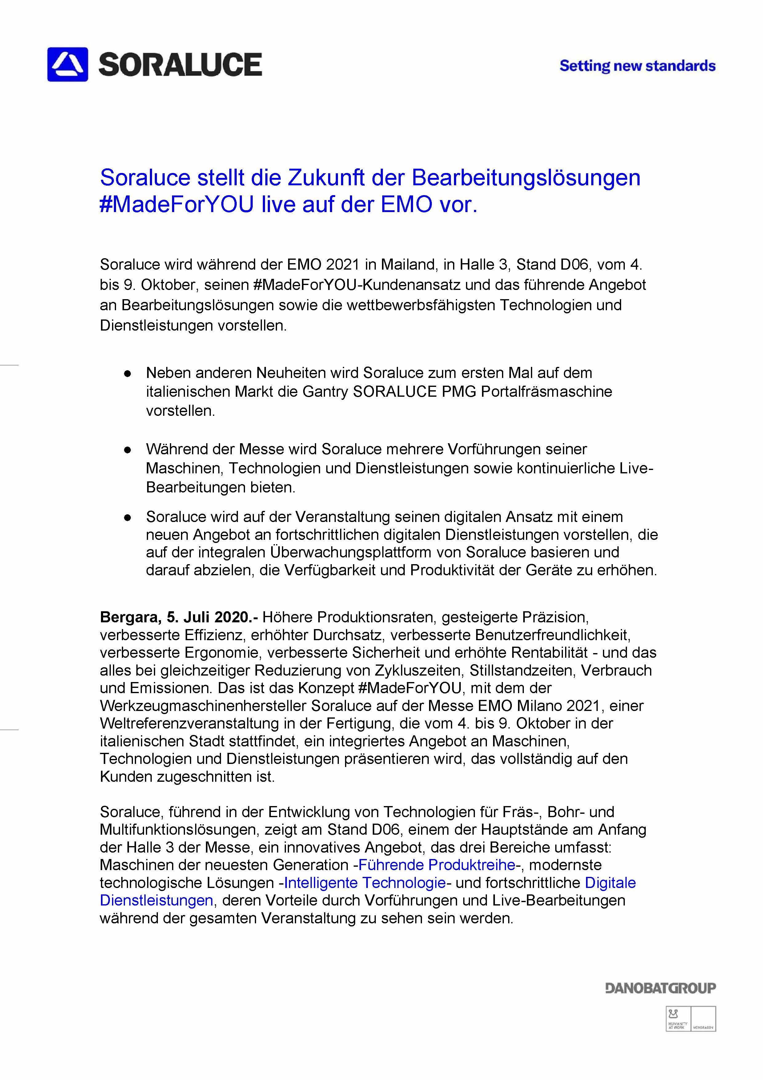 Comunicato stampa (tedesco)