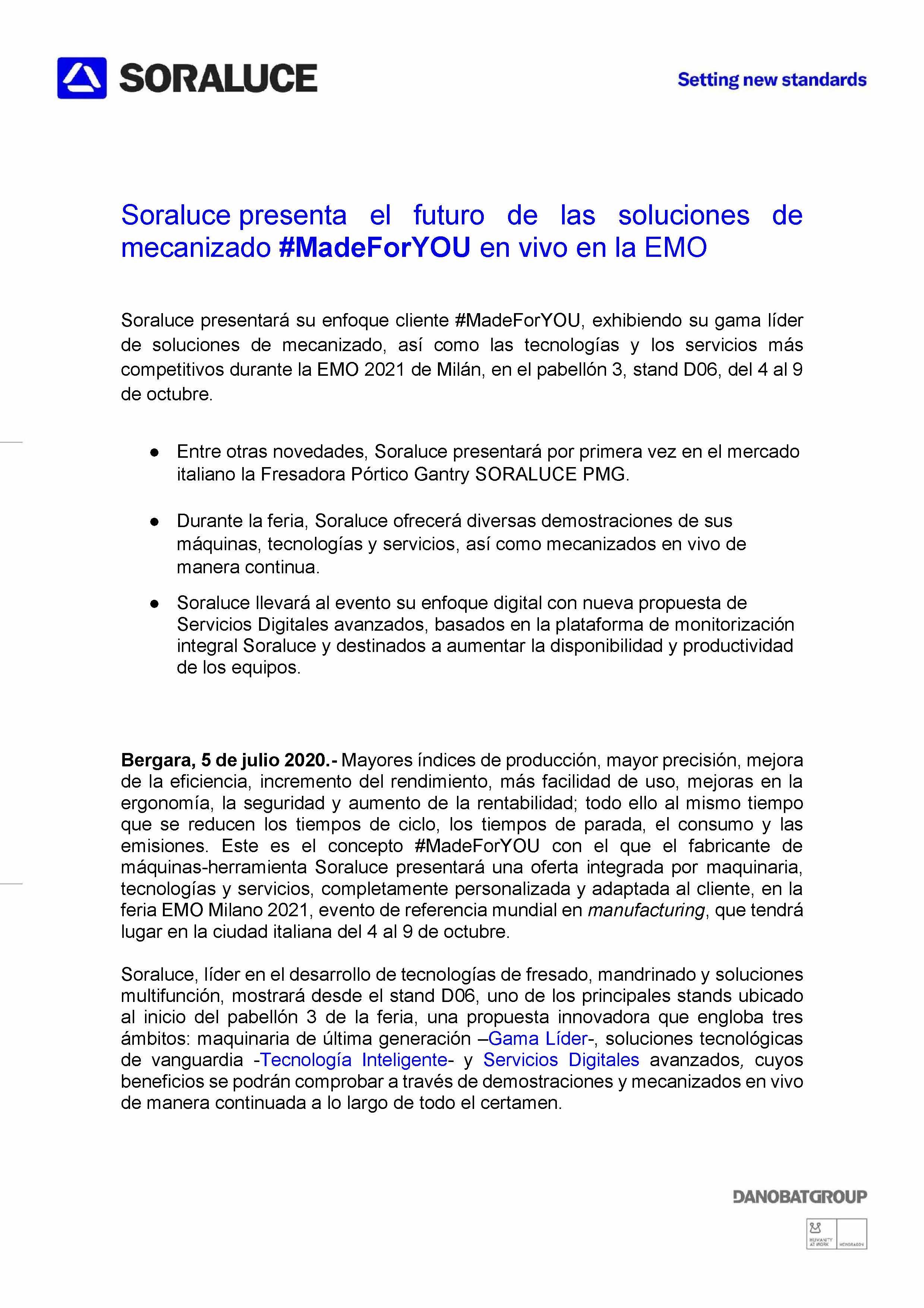 Comunicato stampa (spagnolo)