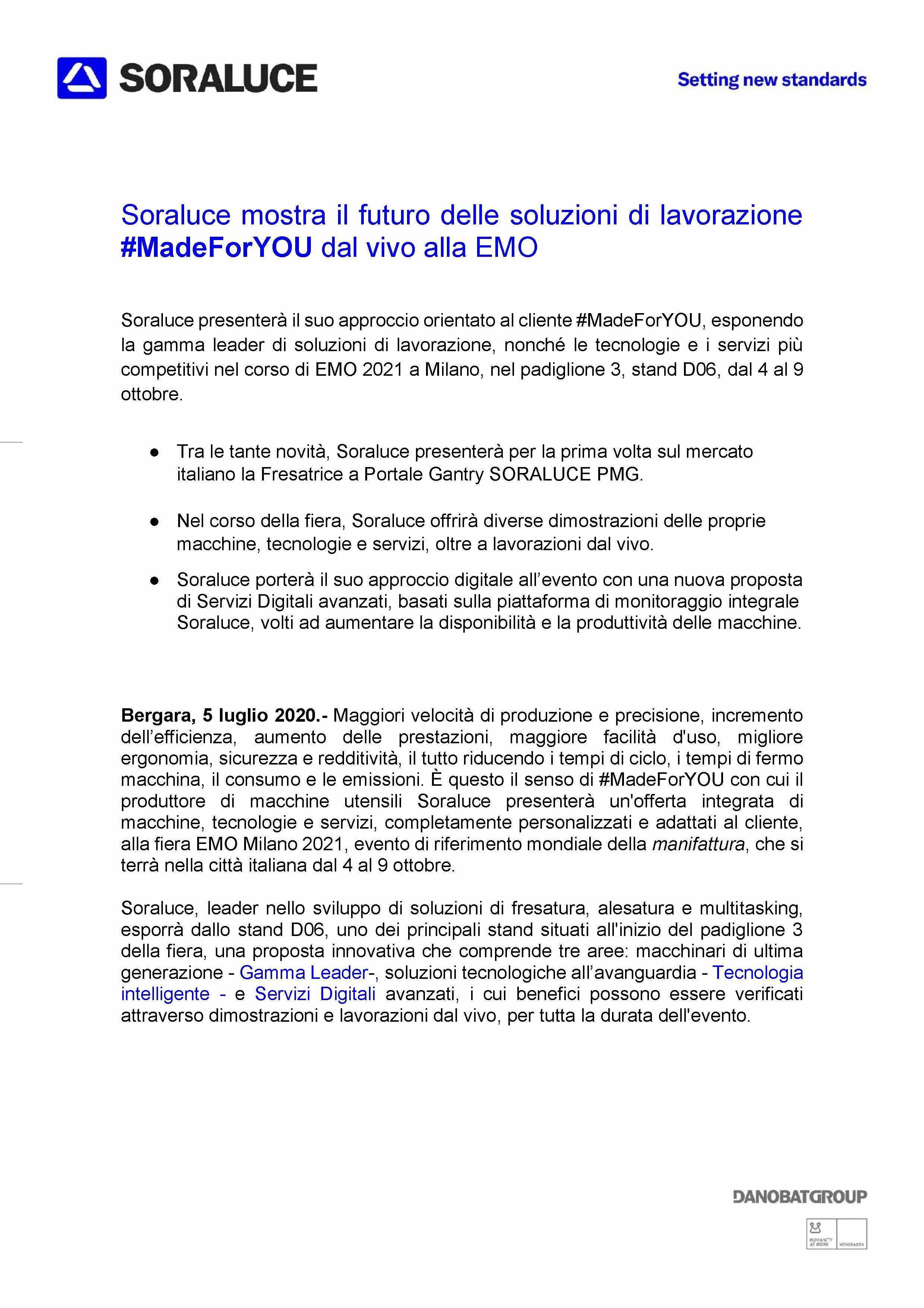 Comunicato stampa (italiano)